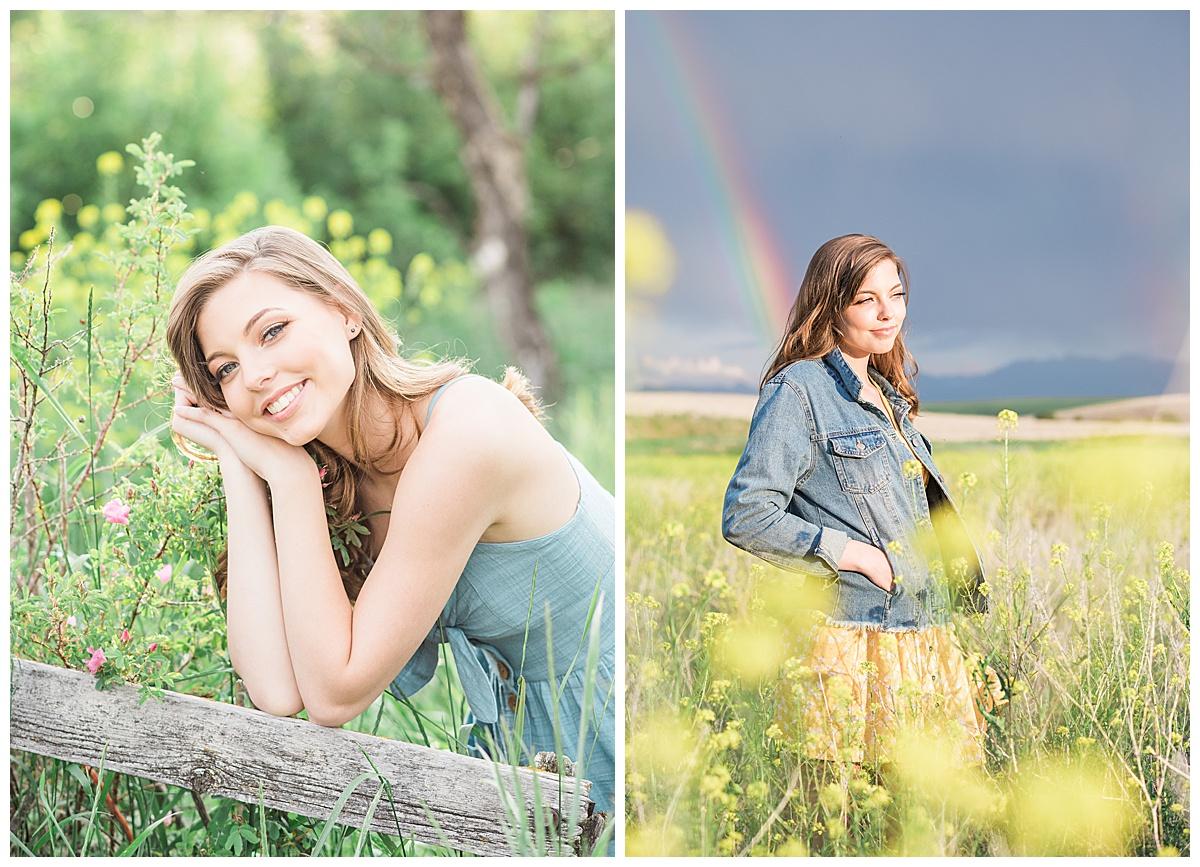 Olivine Fox Bozeman Montana Senior Portrait Photographer Foster Creek Farm Belgrade Montana