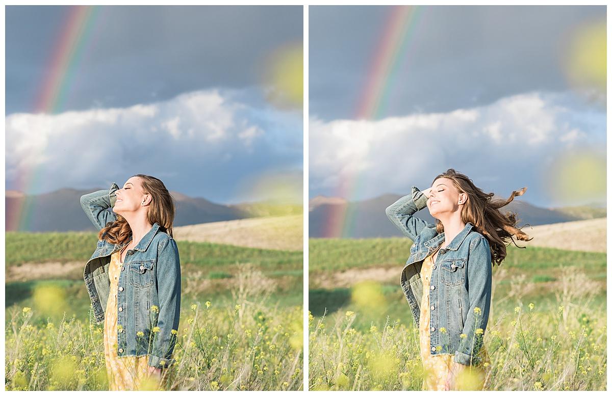 Olivine Fox Bozeman Montana Senior Portrait Photographer Foster Creek Farm Belgrade Montana Rainbow