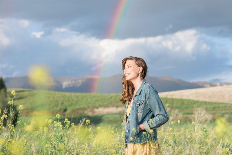 Olivine Fox Bozeman Montana Senior Portrait Photographer Foster Creek Farm Montana