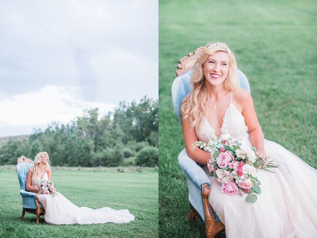 Olivine Fox Montana Wildflower Wedding Sleeping Beauty Inspired Bridal Portraits Bozeman Montana Wedding Photographer Disney Themed Wedding