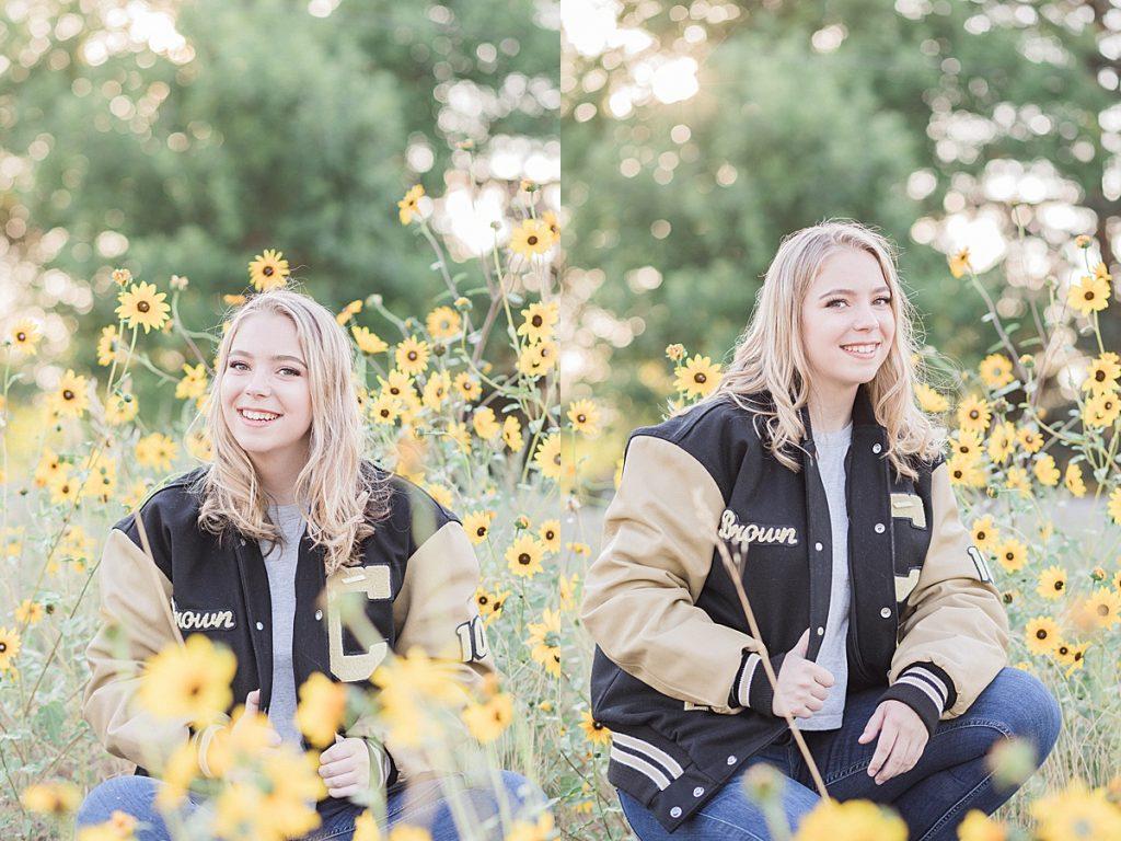Olivine Fox - Great Falls Montana Senior Portrait Photographer - Fall Senior Portraits - Maryland Photographer - Pennsylvania Photographer - Montana Photographer - Sunflower Field