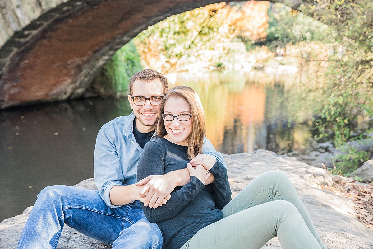 Olivine Fox - Central Park Fall Engagement Session - Maryland Wedding Photographer - Pennsylvania Wedding Photographer - Fall Engagement Session - Gapstow Bridge
