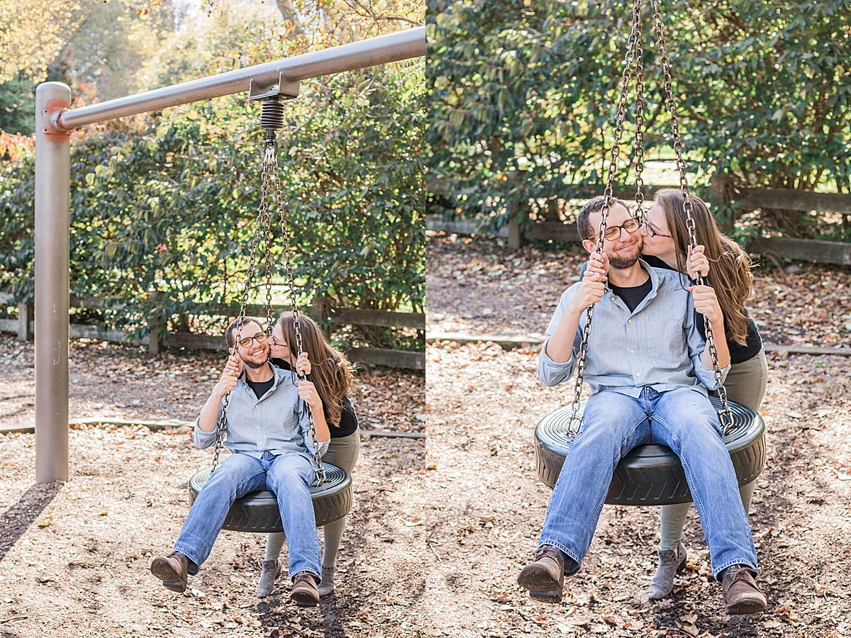 Olivine Fox - Central Park Fall Engagement Session - Maryland Wedding Photographer - Pennsylvania Wedding Photographer - Playground - Fall Engagement Session