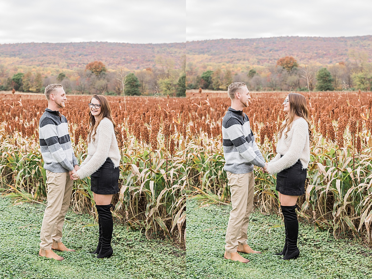 Olivine Fox - Thurmont Maryland Couples Session - Corn Field - Fall Colors - Catoctin Mountains