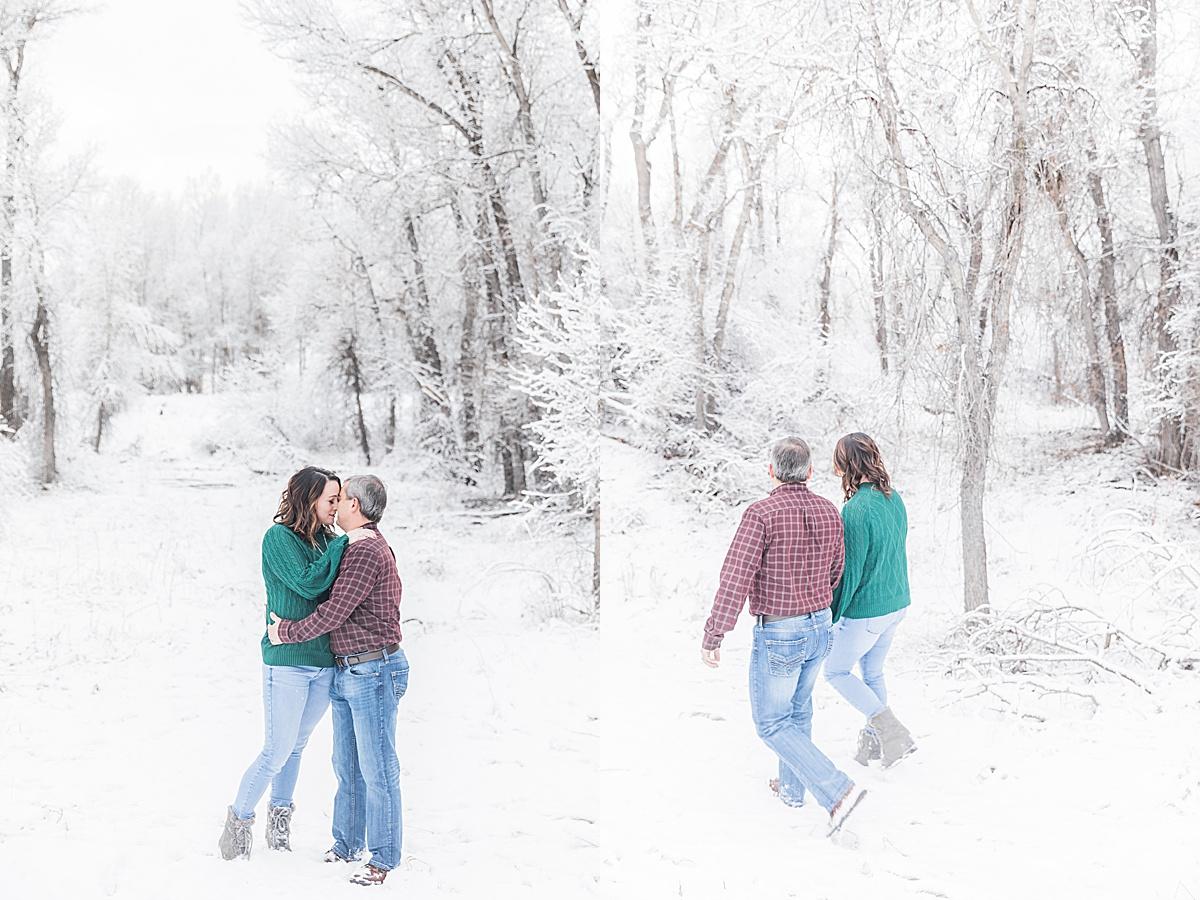 Olivine Fox - Great Falls Montana Portrait Photographer - Winter - Anniversary Session