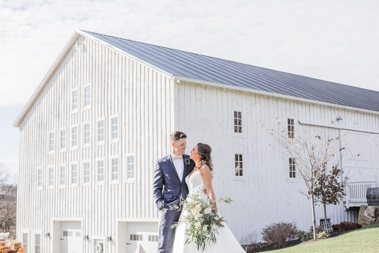 Olivine Fox - White Barn At Lucas Farm Wedding - Fall - Deep Creek - Maryland Wedding Photographer