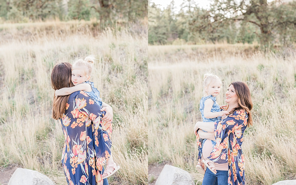 Olivine Fox - Helena Montana Maternity Portrait Photographer - Maternity Photos - Outdoor Maternity Photos - Mommy and Me Maternity Session