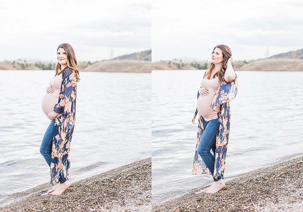 Olivine Fox - Helena Montana Maternity Portrait Photographer - Maternity Photos - Outdoor Maternity Photos - Lakeside Maternity Photoshoot