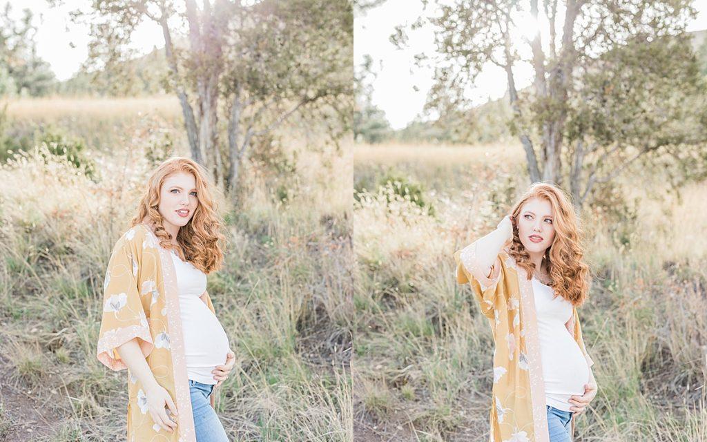 Olivine Fox - Portrait Photographer - Helena Montana Maternity Photographer - Maternity Photos Outfit Inspiration - Outdoor Maternity Photos - Maternity Dress