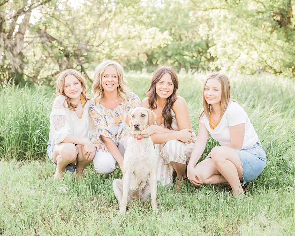 Olivine Fox - Montana Portrait Photographer - Family Portrait Photographer - Great Falls Montana Photographer - Outdoor Family Photos - Country Family Photos - Summer Family Photos - Family Photos Outfit Inspiration - Family Photos With Dog