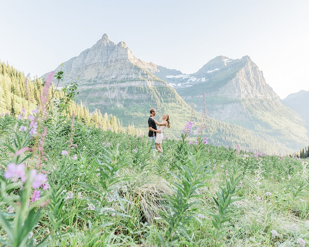 Olivine Fox - Glacier National Park - Montana - Summer - Engagement Session - Montana Wedding Photographer
