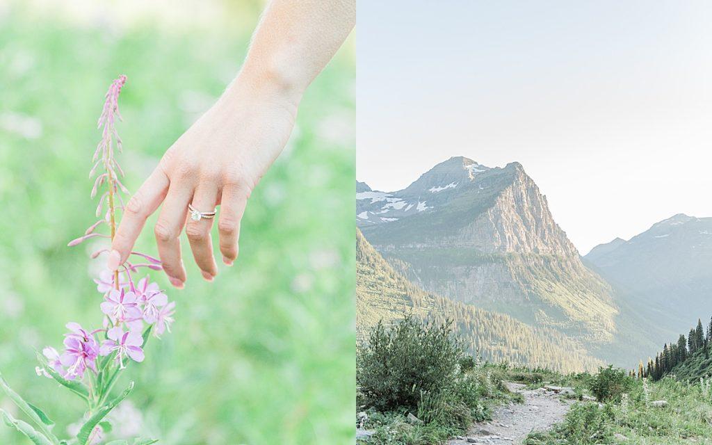 Olivine Fox - Glacier National Park - Montana - Summer - Engagement Session - Montana Wedding Photographer
