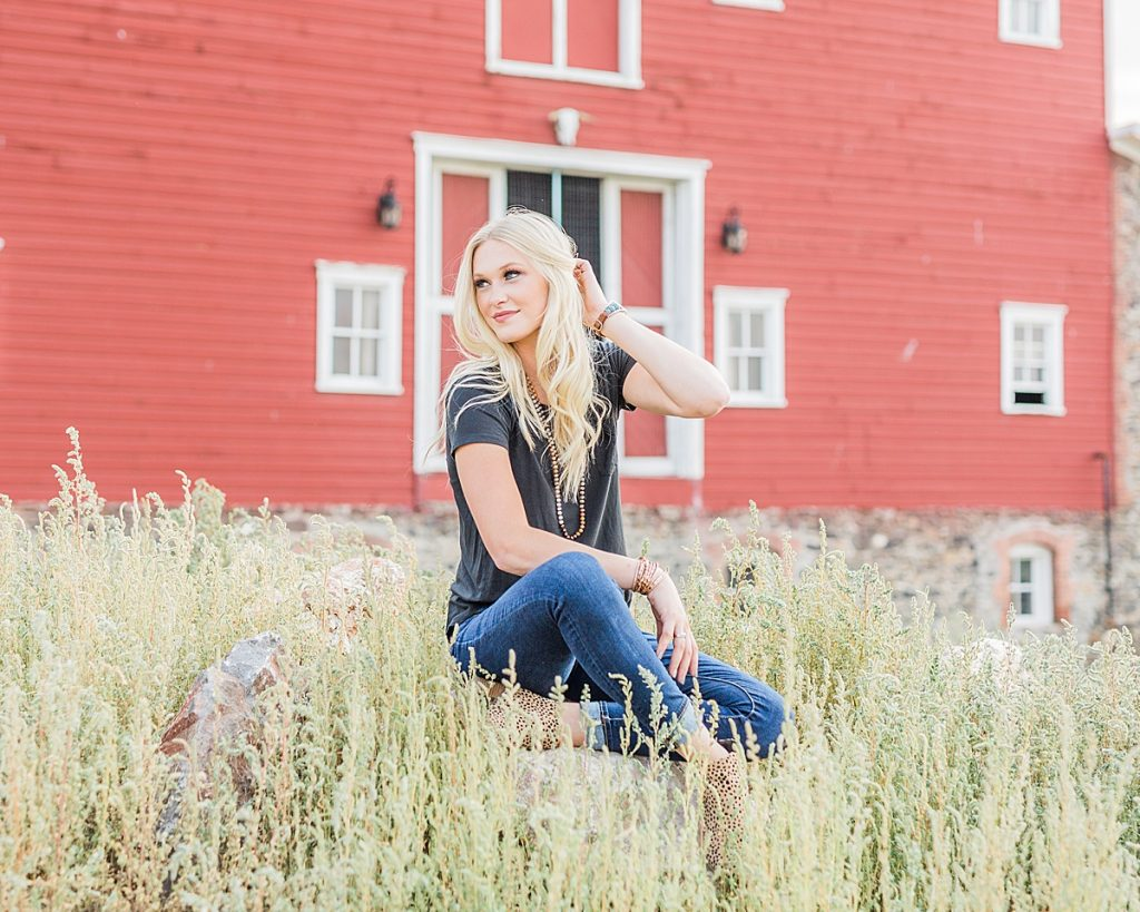 Olivine Fox - Kleffner Ranch - Miss Montana High School Rodeo Queen Senior Pictures - Summer Senior Pictures - Red Barn - Farm Senior Photos - ranch senior portraits - ranch senior photos