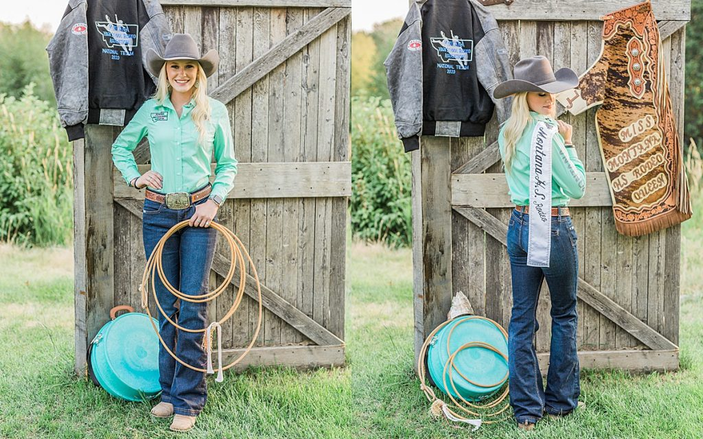 Olivine Fox - Kleffner Ranch - Miss Montana High School Rodeo Queen Senior Pictures - Summer Senior Pictures - Red Barn - Farm Senior Photos - Country