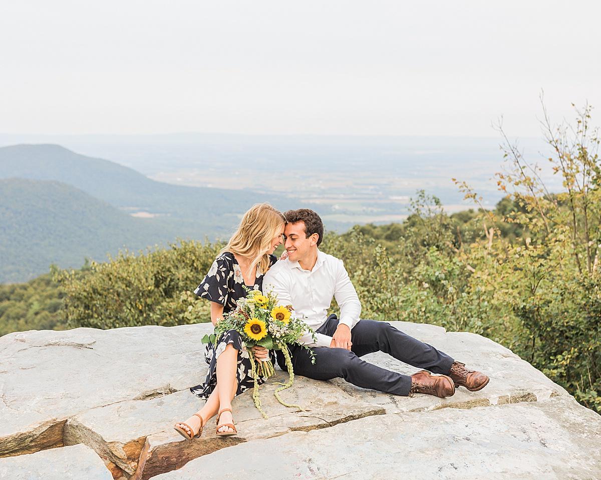 Cowans Gap State Park - Carlisle Pennsylvania Photographer - Central Pennsylvania Photographer - Sunflower Bouquet - Summer Outfits For Couples Photos