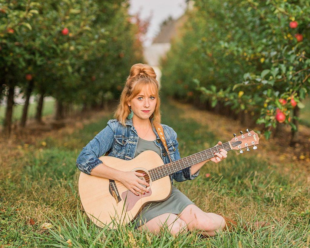 Olivine Fox - Gettysburg Pennsylvania Photographer - Central Pennsylvania Musician Photography - Orchard Photos - Fall Photos - Carlisle - Mechanicsburg - Harrisburg - Acoustic Guitar - Country Music
