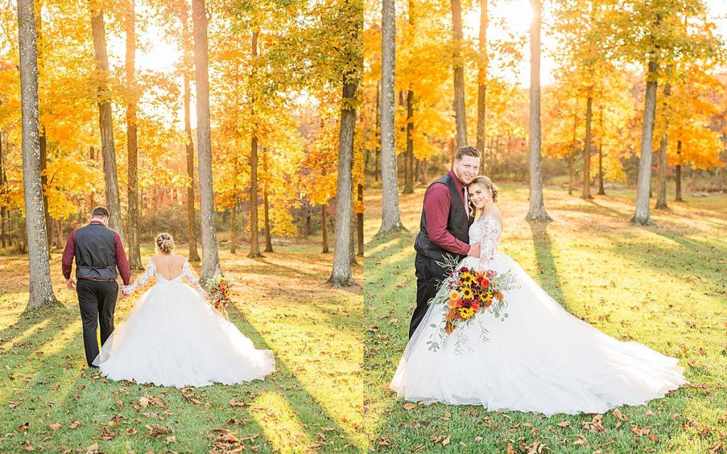 Olivine Fox - Gettysburg Pennsylvania Wedding Photographer - Caboose Farm Maryland Fall Wedding - Sunflower Bouquet - Farm Wedding Inspiration