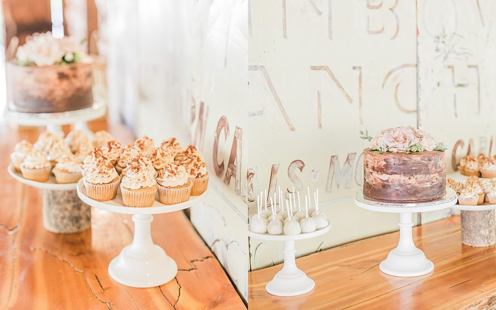 Olivine Fox - Big Sky Montana Elopement Photographer - Bozeman Montana Wedding Photographer - Rainbow Ranch Lodge - Maple Bacon Cake - Cakes By Jenn Bozeman
