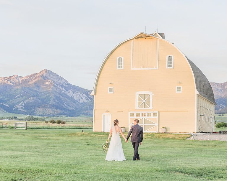 Olivine Fox - Big Yellow Barn - Bozeman Montana Wedding Photographer - Montana Barn Venue